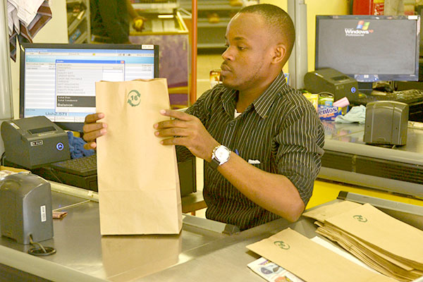 Most Supermarkets in Kampala are now providing paper bags for their customers, after the massive Kaveera ban
