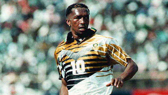 South Africa's greatest ever footballers, John 'Shoes' Moshoeu,