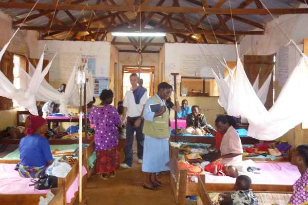 Malaria Clinic in Tanzania helped by SMS for Life and IBM LotusLive.com cloud computing.