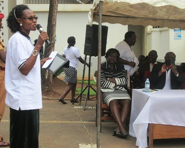Hon Benny Nmugwanya addressing people