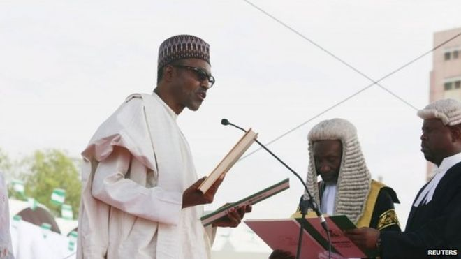 "President Buhari said Nigeria now had ""a window of opportunity to fulfil her potential"""