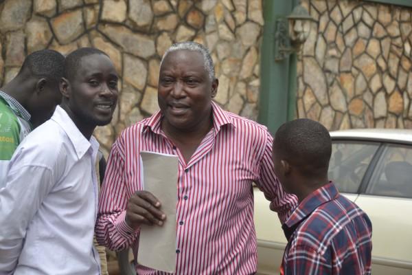 Joseph Kazigo,  committee  member pioneer mall tenants talks to journalists