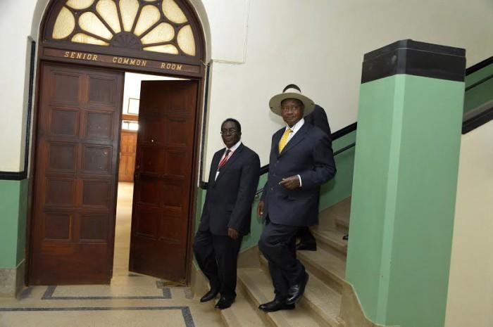 President Museveni and MUK VC Ddumba