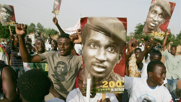 Mr Sankara remains popular in many parts of Africa