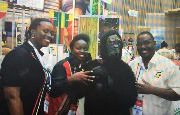 Ugandan team in the Expo