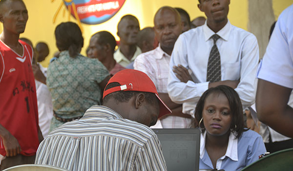 Many residents flocked voters registration centers to verify their registration identities ahead of the 2016 general elections.