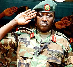 Arrested Intelligence Chief Karake Karenzi.