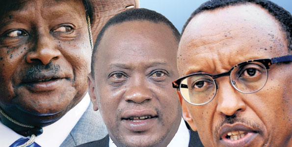 EAC Presidents Museveni, Uhuru and Kagame