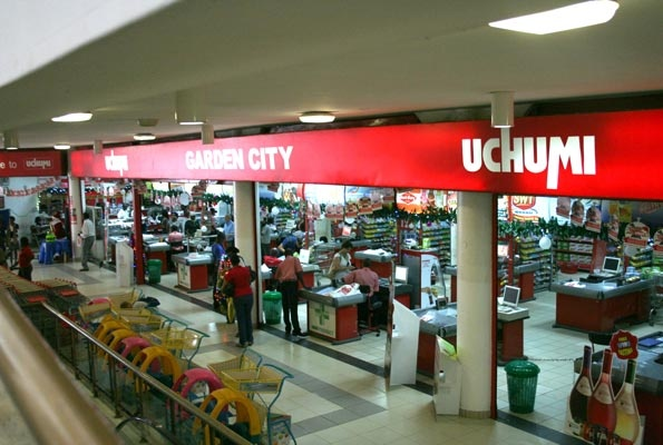 Uchumi Supermarket  at Garden City.