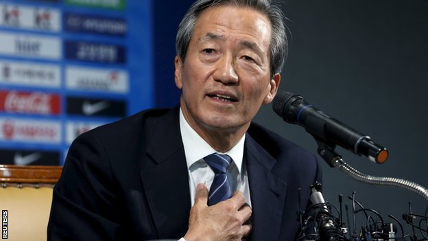 Chung Mong-joon or Chung Mong Joon, is a South Korean businessman and politician. He is honorary vice president of FIFA and the former president of the South Korean soccer association.