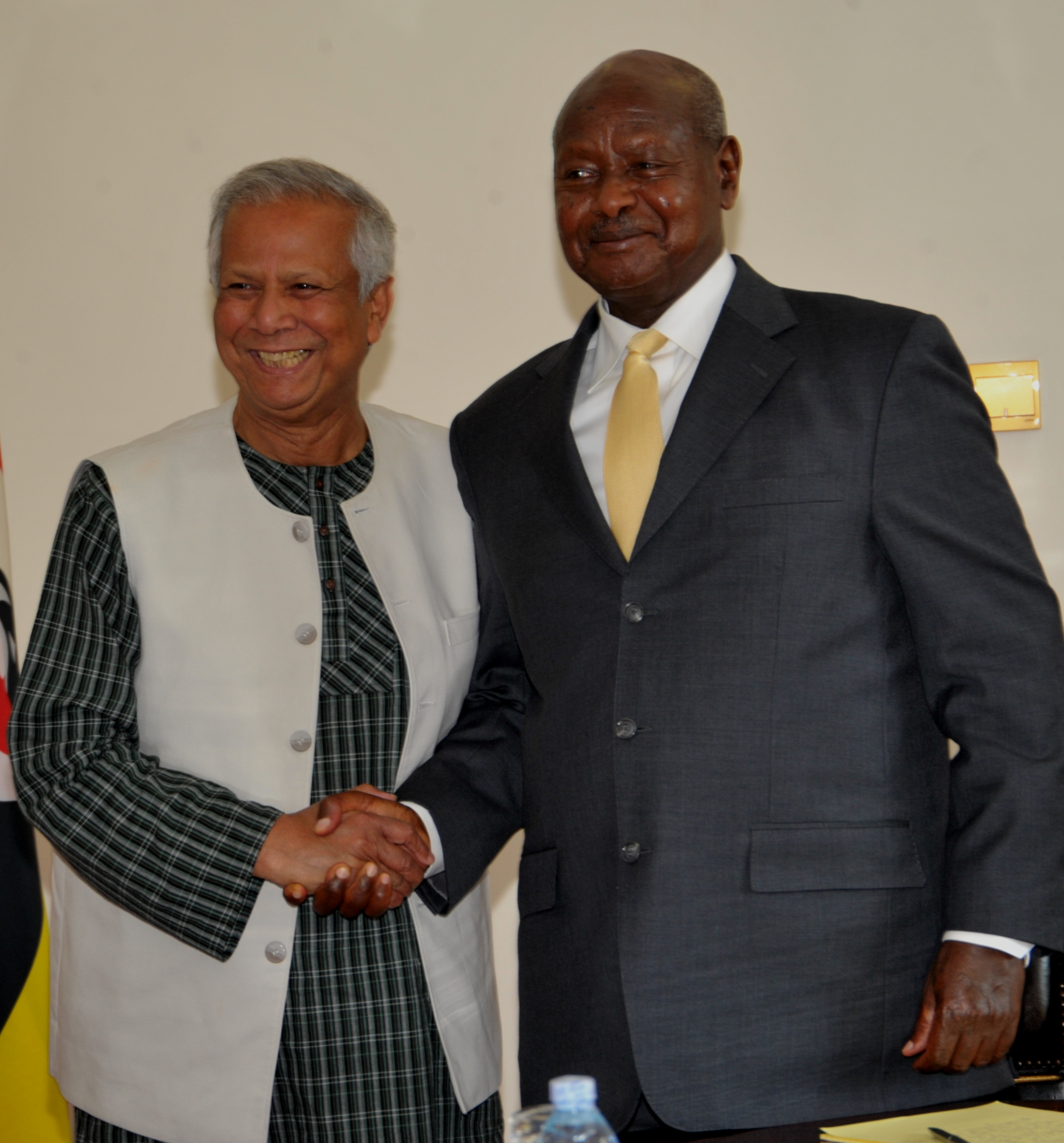 President Museveni  held a meeting with Prof.Muhammad Yunus, a Bangladeshi 2006 joint Nobel Peace Laureate.
