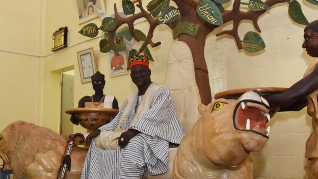 Mogho Naba, the traditional ruler king of the Mossi ethnic group, witnessed the peace deal