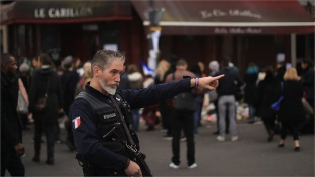 Thousand of extra police and troops have been deployed in Paris.
