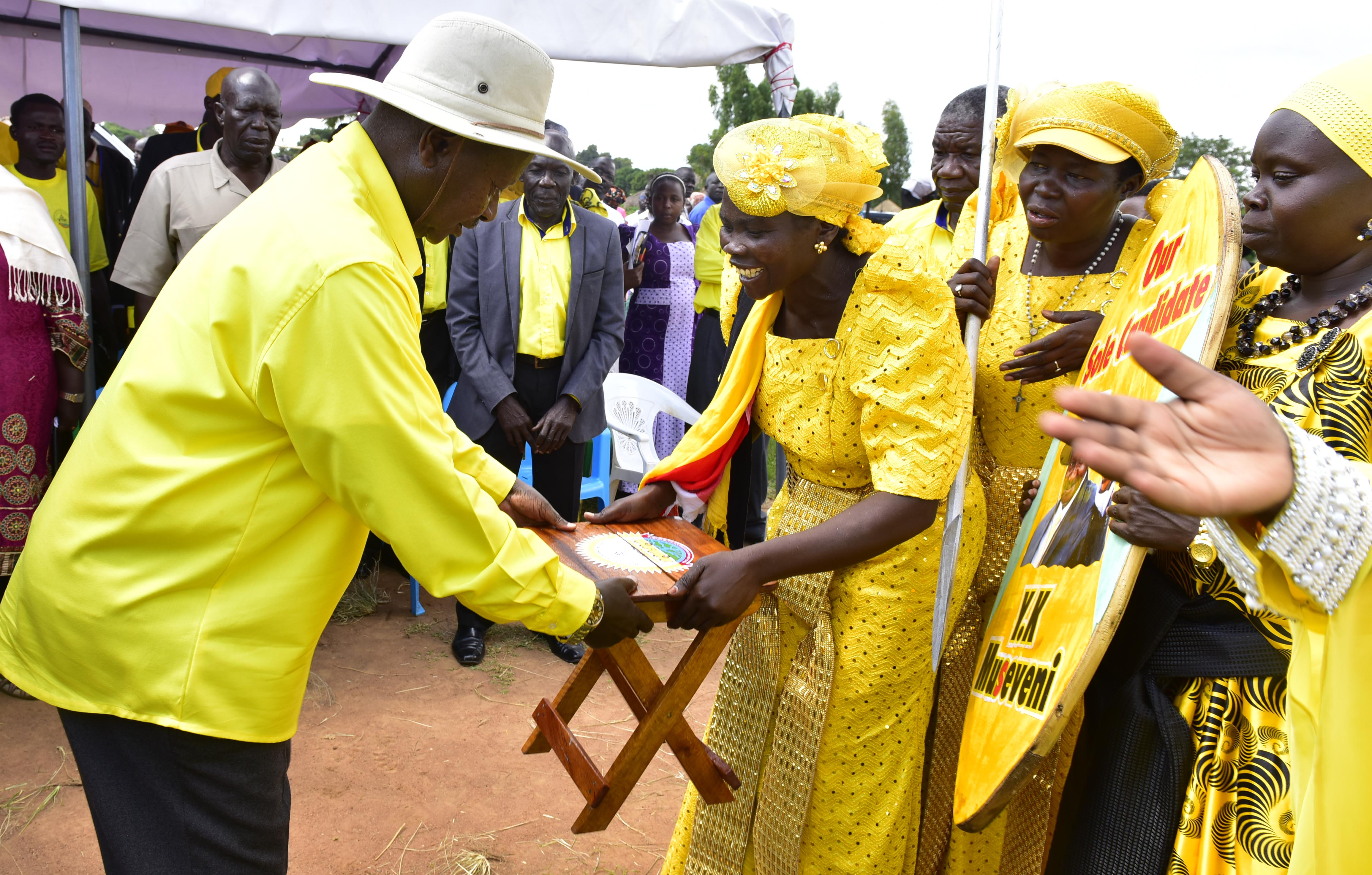 Museveni in Yumbe - Town Council - Bouma Grounds 12