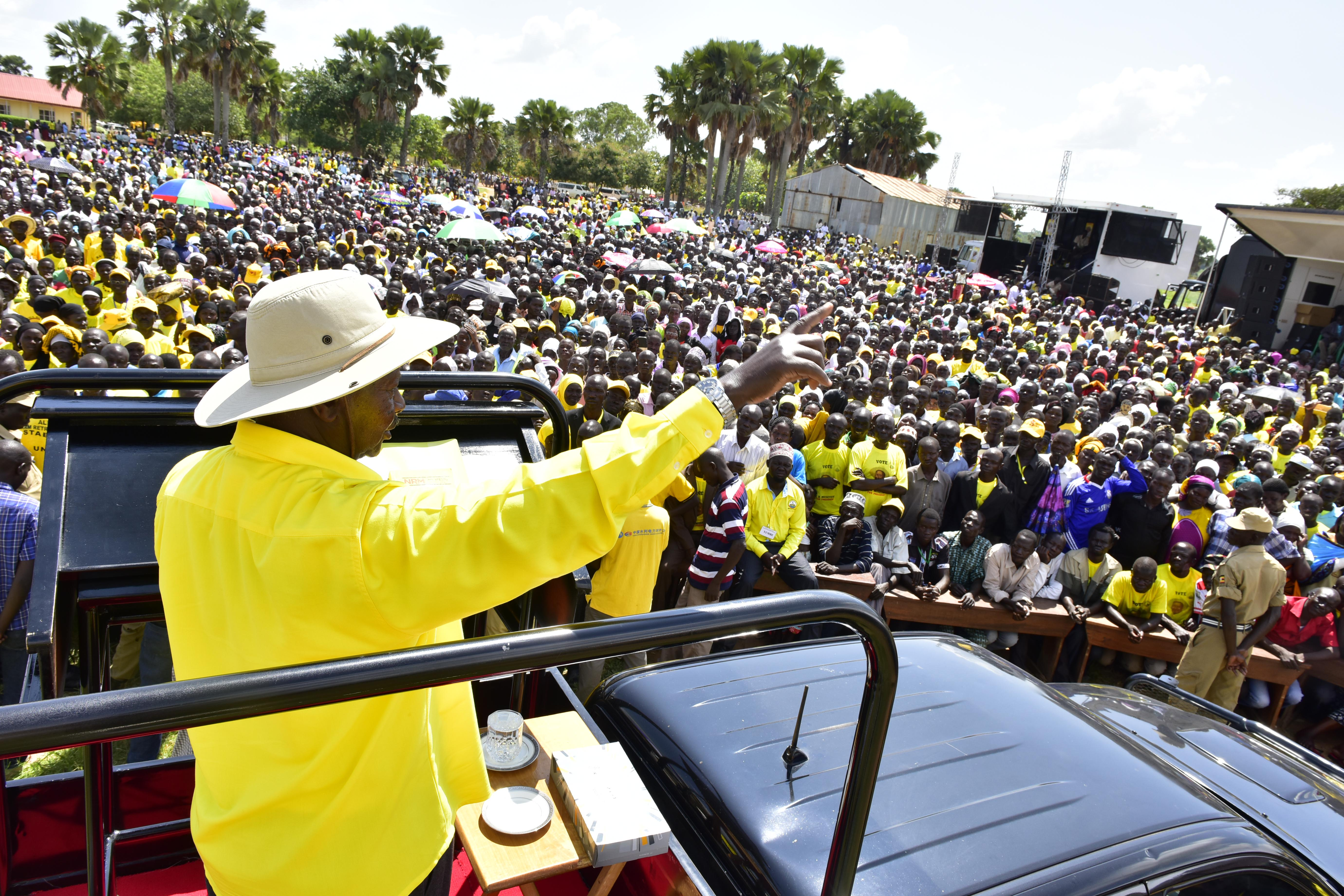 Museveni in Yumbe - Town Council - Bouma Grounds 18-2