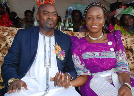 Susan Namaganda and her husband Mukasa Mbidde during her introduction ceremony in 2012.